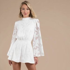 findersKEEPERS // ivory lace bow back playsuit